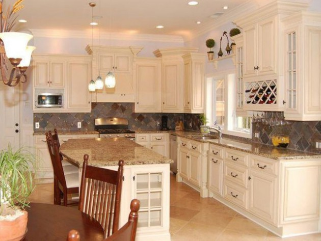48 White Antique Kitchen Designs That Abound With Warmth Charm New Antique Kitchen Design