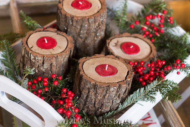 19 delightful diy christmas candle holders
