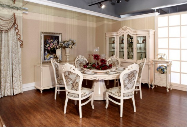 15 White Round Table Design Ideas For Extravagant Look Of Your DIning Room