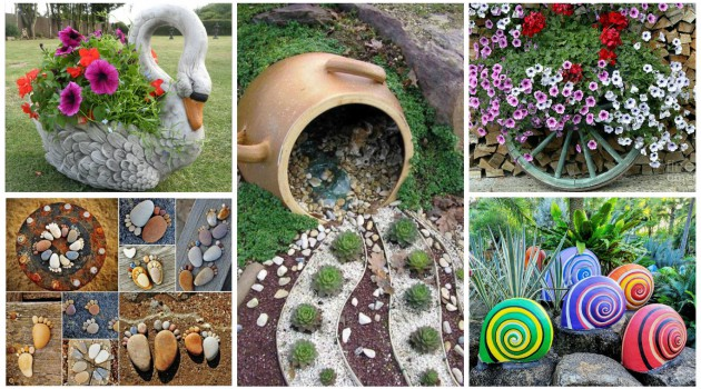 16 Magnificent DIY Garden Decorations That Will Immediately Beautify Every Garden