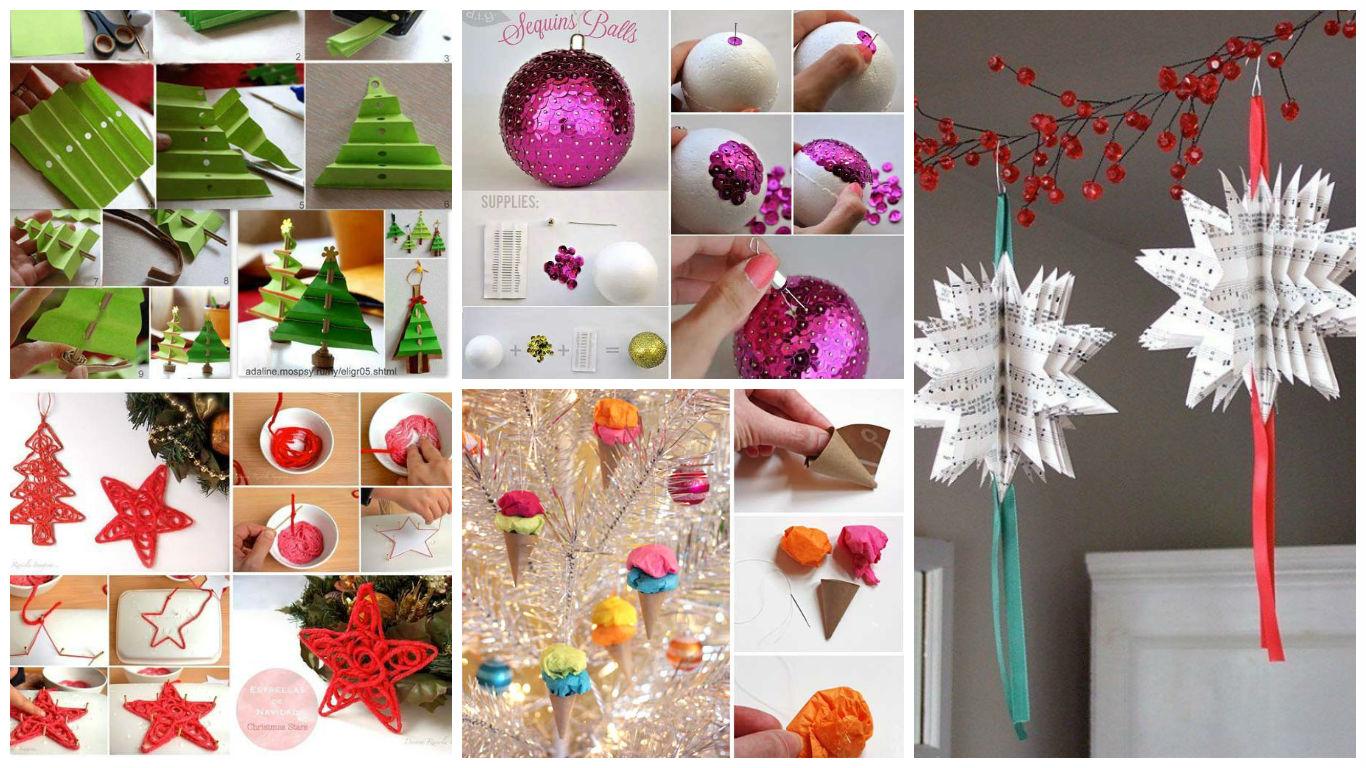 Идеи новогодних украшений для дома своими руками