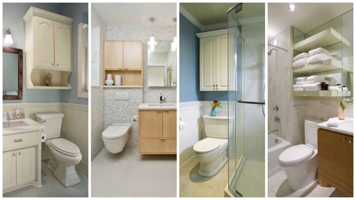 Over Toilet Ideas Bathroom: Extra Storage Over The Toilet-15 Practical Ideas That Will