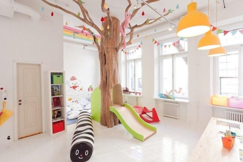 Детская игровая комната в библиотеке.
