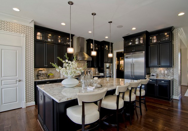 15 Classy Kitchen Designs With White Kitchen Chairs
