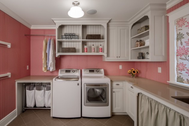 17 L Shaped Laundry Designs For Better Use Of The Space & Functionality
