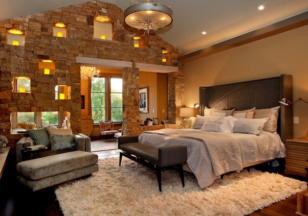 16 Accent Brick Wall Designs For Beautiful Look Of The Bedroom