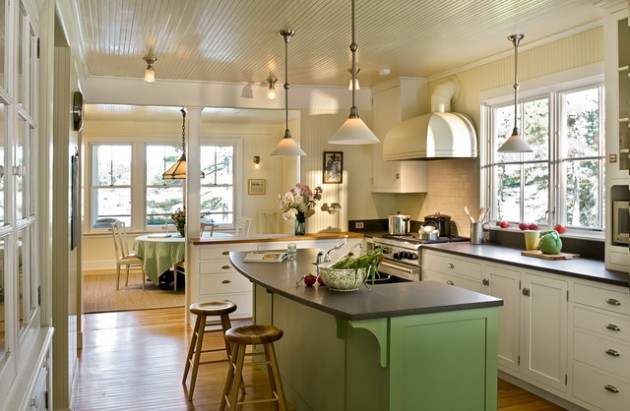 17 Attractive Traditional Kitchen Lighting Ideas To Beautify Your Kitchen Space