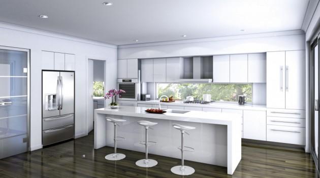 15 Classy Kitchen Designs With White Kitchen Chairs