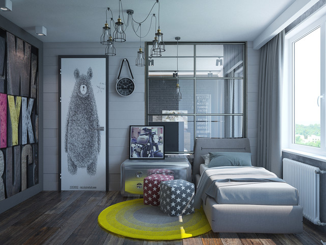 15 Extraordinary Industrial Kids Room Designs To