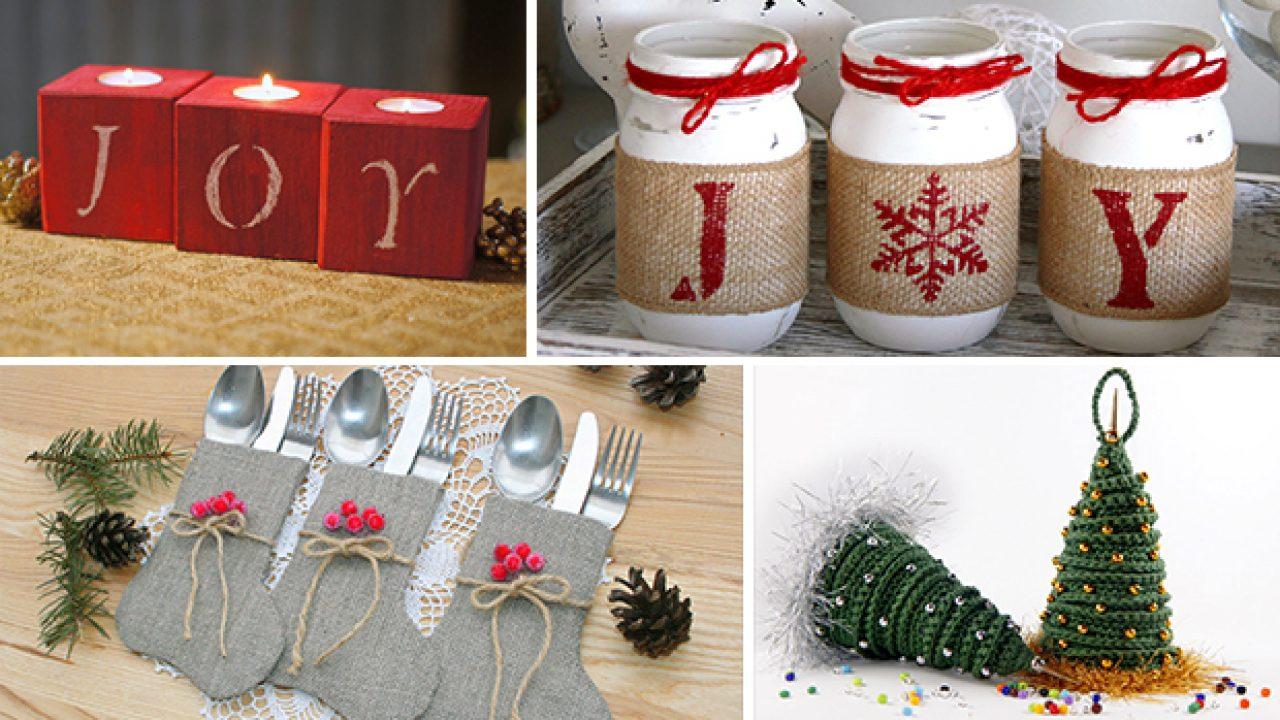 Christmas Table Decoration Ideas.16 Enchanting Handmade Christmas Table Decor Ideas