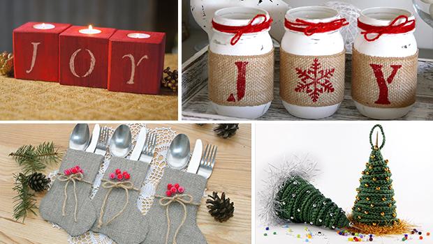enchanting kitchen table centerpiece ideas | 16 Enchanting Handmade Christmas Table Decor Ideas