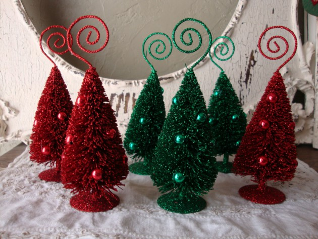 Bottle Brush Christmas Tree. 16 Enchanting Handmade Christmas Table Decor Ideas : handmade christmas tree decorations ideas - www.pureclipart.com