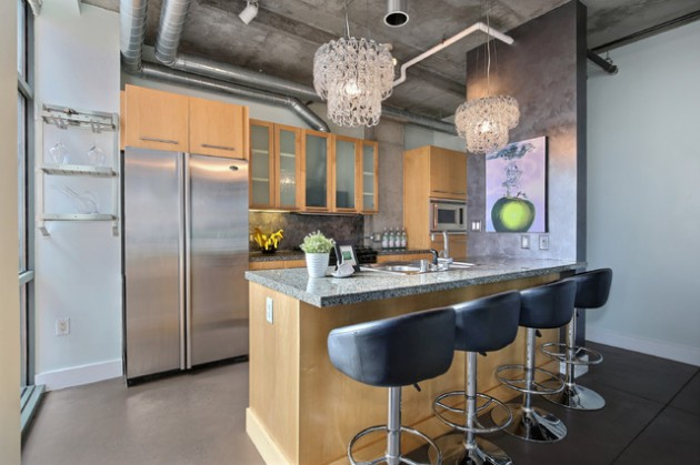 16 Extraordinary Industrial Kitchen Designs You'll Fall In Love With