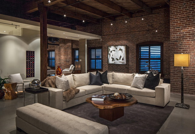 16 Spectacular Industrial Living Room Interior Designs