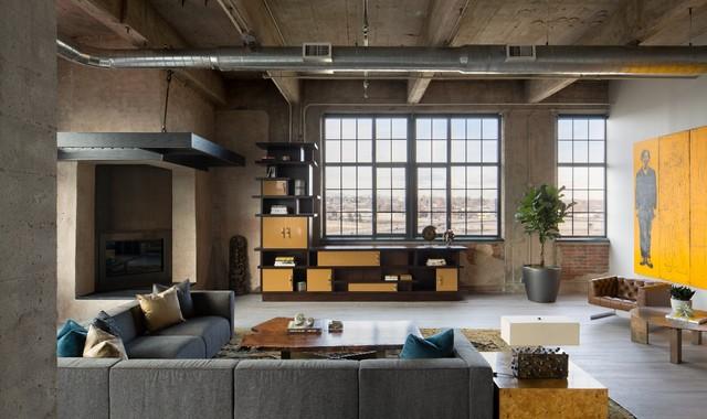 Central denver loft 16 spectacular industrial living room interior designs