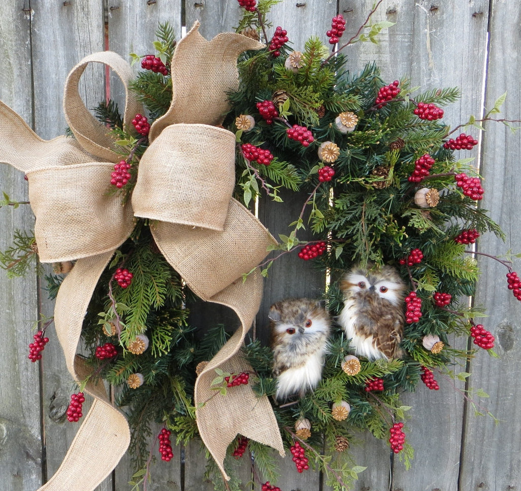 How To Make Christmas Door Wreaths
