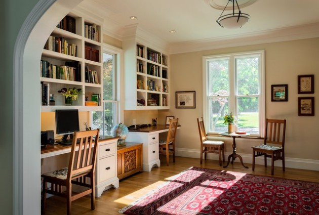 18 Sophisticated Traditional Home Office Designs To Work In Style