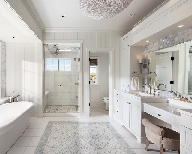 unforgettable transitional bathroom interiors   touch  elegance   home