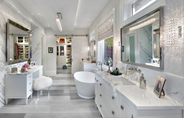 19 unforgettable transitional bathroom interiors for a touch of