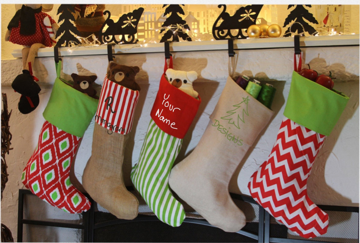 Christmas Stocking Design Ideas christmas stockings decorating ideas 20 Handmade Christmas Stocking Ideas That Will Make Great Festive Decorations Christmas Stocking Design Ideas