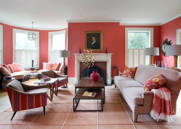 17 Pink Living Room Designs For Cheerful Atmosphere