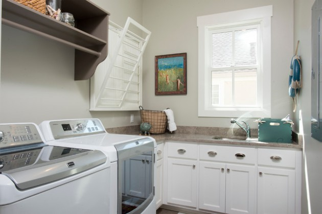 17 L-Shaped Laundry Designs For Better Use Of The Space & Functionality