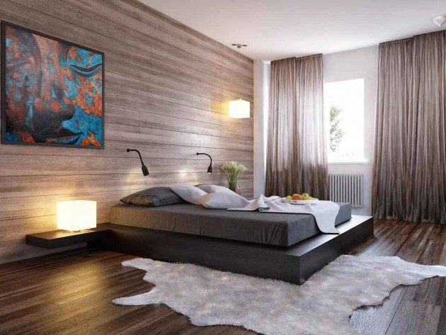17 Dazzling Bedroom Designs With Wooden Wall
