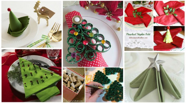 15 Most Easiest DIY Christmas Napkins To Adorn Your Christmas Table