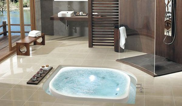 Amazing Luxury Bathroom Designs Elegant Wirlpool Tub Spa Ideas
