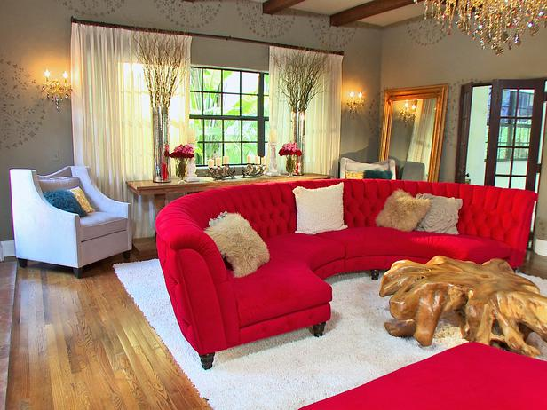 High Quality 17 Stylish Living Room Designs With Red Couches