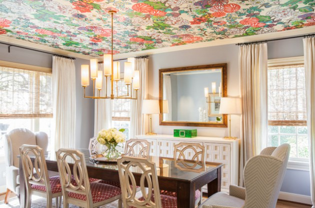 Wallpaper On The Ceiling- 17 Amazing Ideas How It Will Look Like