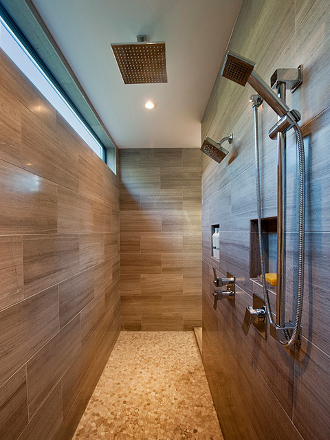 16 Beautiful Bathrooms With Double Shower For Extra Pleasure