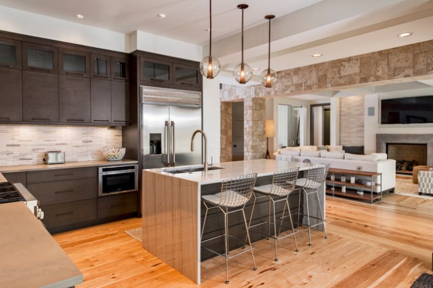 Fit For Less >> 17 Beautiful Open Concept Kitchen Designs In Modern Style