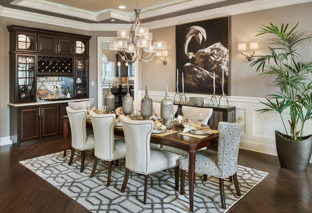 15 chic transitional dining room interior designs full of for Dining room design ideas