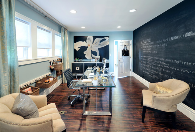 Elegant Transitional Home Office Designs To Motivate You on Custom Park Avenue