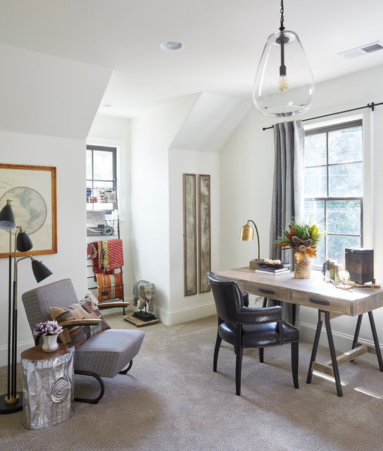 16 Amazing Eclectic Home Office Designs You Wont Mind Working In
