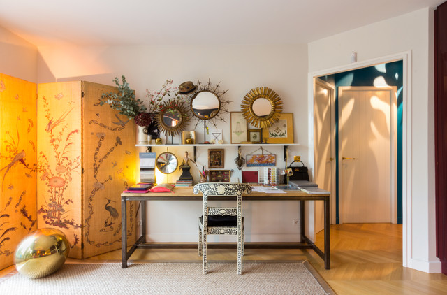 eclectic home office living room 16 amazing eclectic home office designs you wont mind working in wont