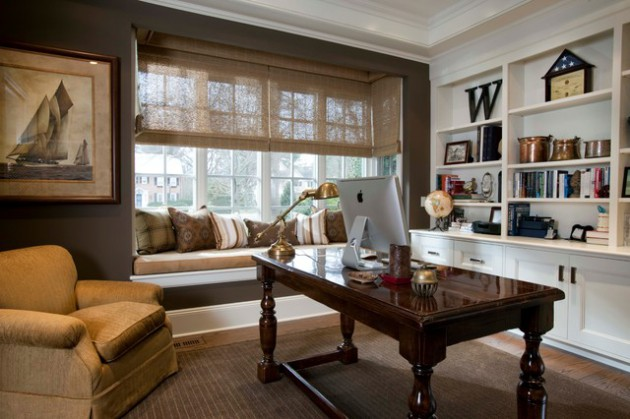 Traditional Home Office Designs That