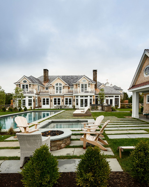 18 Breathtaking Transitional Swimming Pool Designs You Won't Forget
