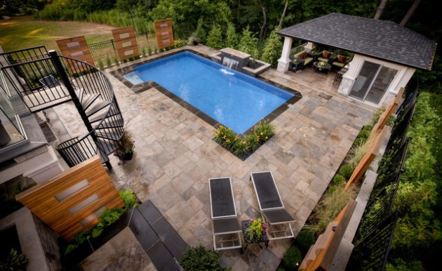 18 Breathtaking Transitional Swimming Pool Designs You Wont Forget