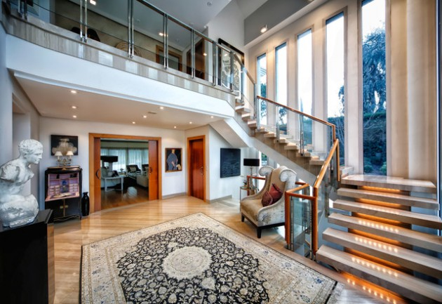 18 Dazzling Transitional Staircase Designs You're Going To Adore