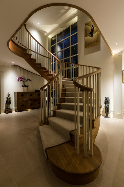 18 Dazzling Transitional Staircase Designs Youre Going To Adore