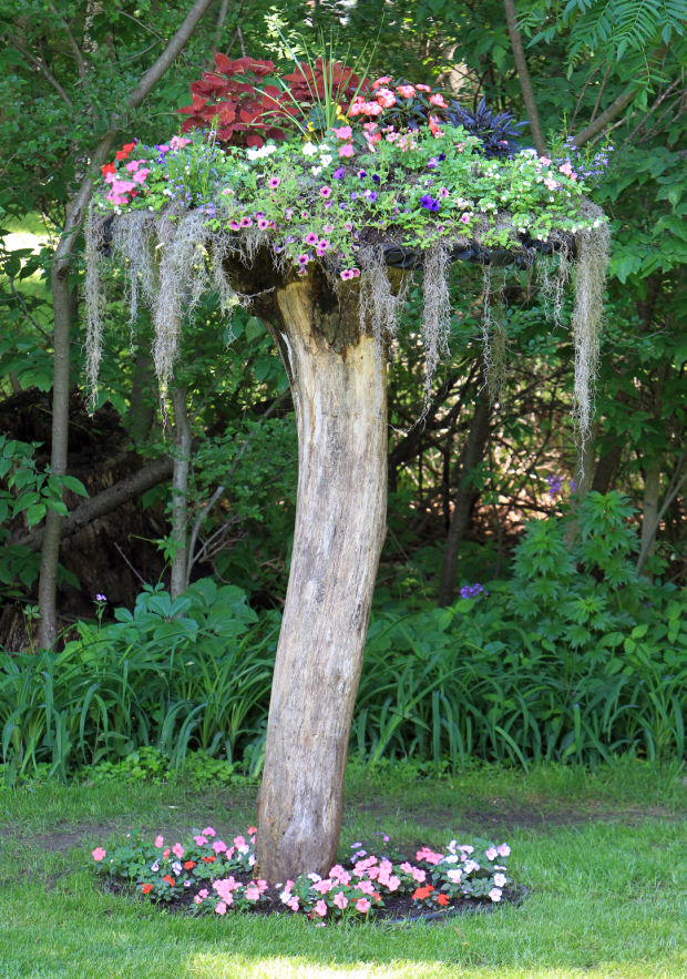 14 Interesting Ideas How To Decorate Your Garden With Tree ...