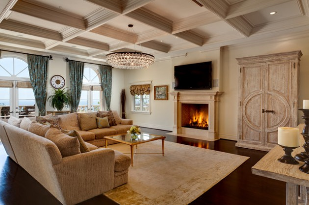 19 Brilliant Ideas To Decorate Living Room With Chandelier