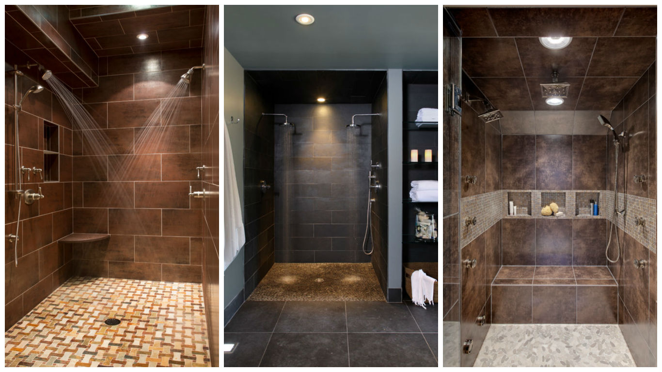 16 beautiful bathrooms with double shower for extra pleasure for Bathroom ideas double shower