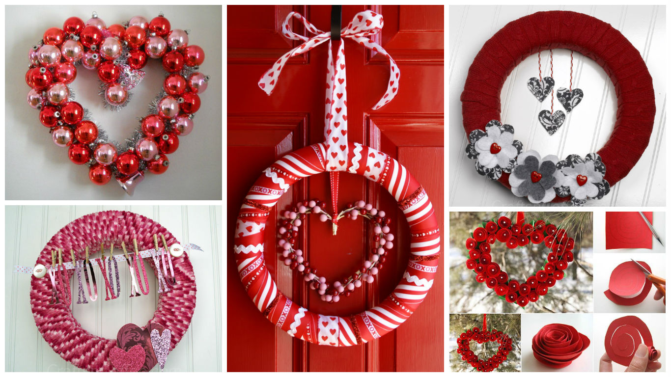 17 fabulous diy valentines day wreath designs to adorn your front 17 fabulous diy valentines day wreath designs to adorn your front door rubansaba