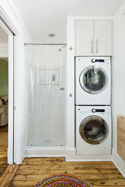 14 Multifunctional Bathroom Designs With Laundry Space