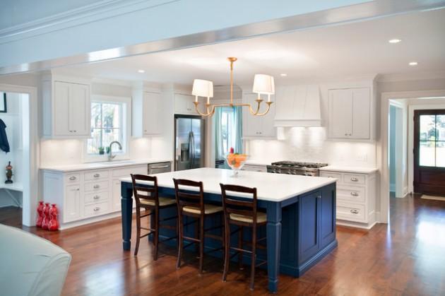 Kitchen Designs With Blue Island