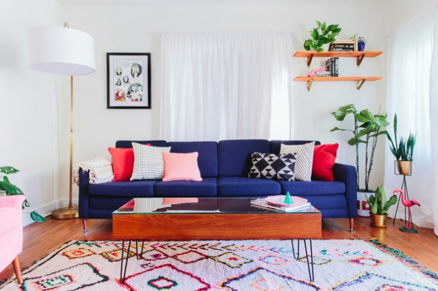 17 Brilliant Colorful Living Rooms To Break The Monotony In The Home