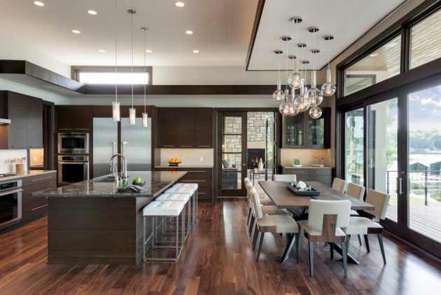 16 Classy Dark Wood Kitchens That Will Delight You